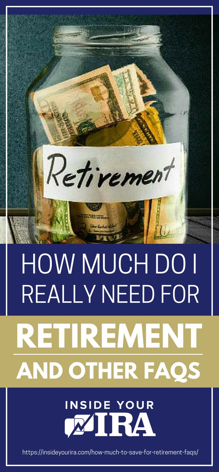 How Much Do I Really Need For Retirement? (And Other FAQs) | How Much To Save For Retirement | Inside Your IRA https://insideyourira.com/how-much-to-save-for-retirement-faqs/