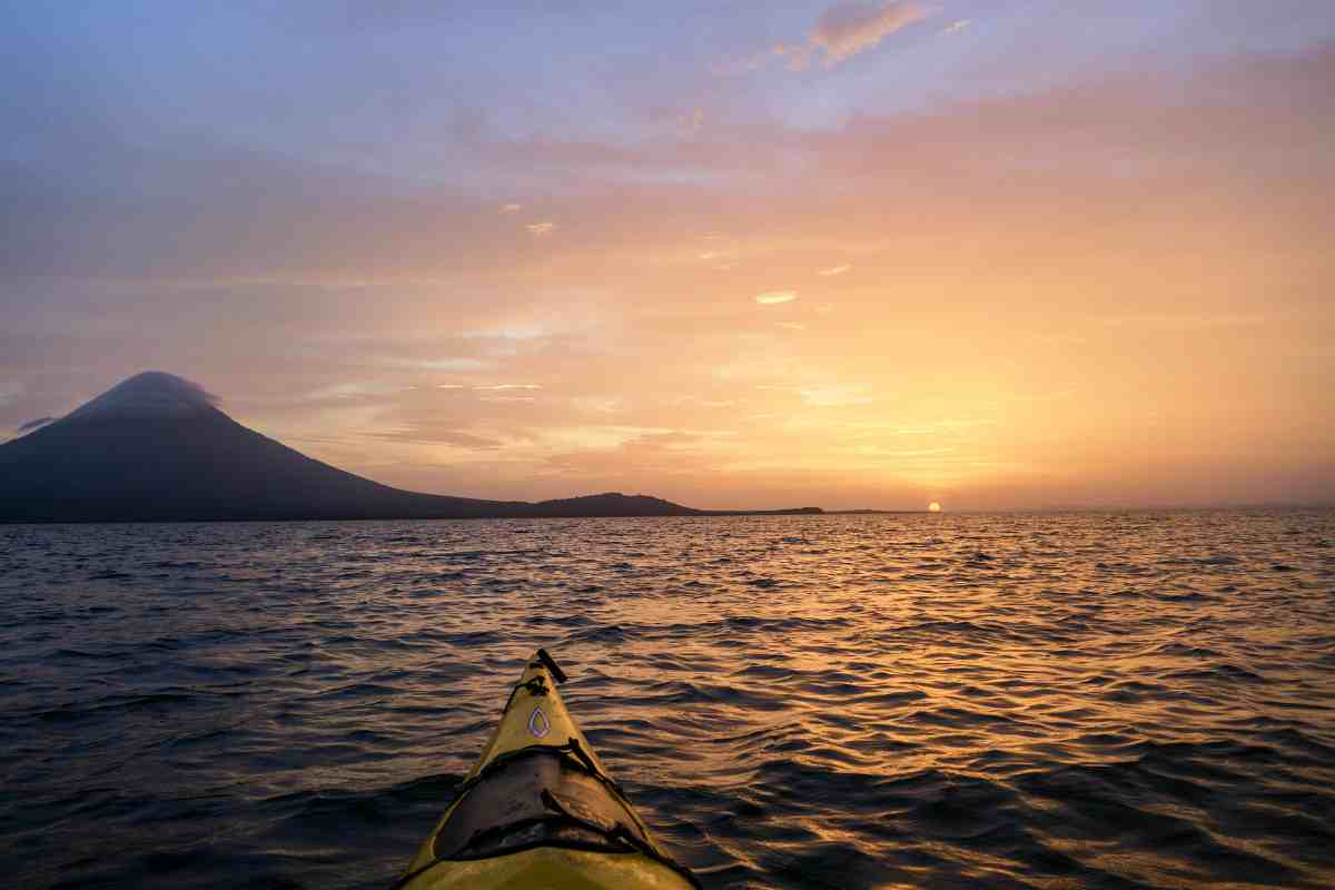 kayaking at sunset | Nicaragua | best retirement countries