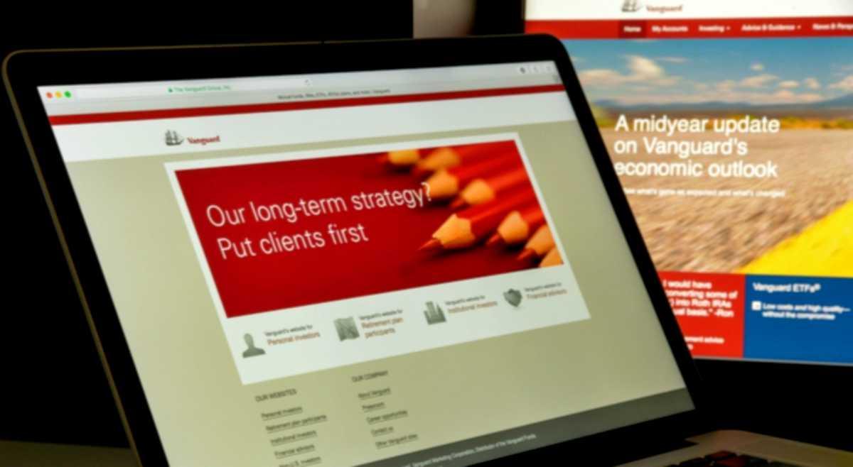 vanguard website on computer screen   Best Retirement Calculators 401(k) To Help You Save