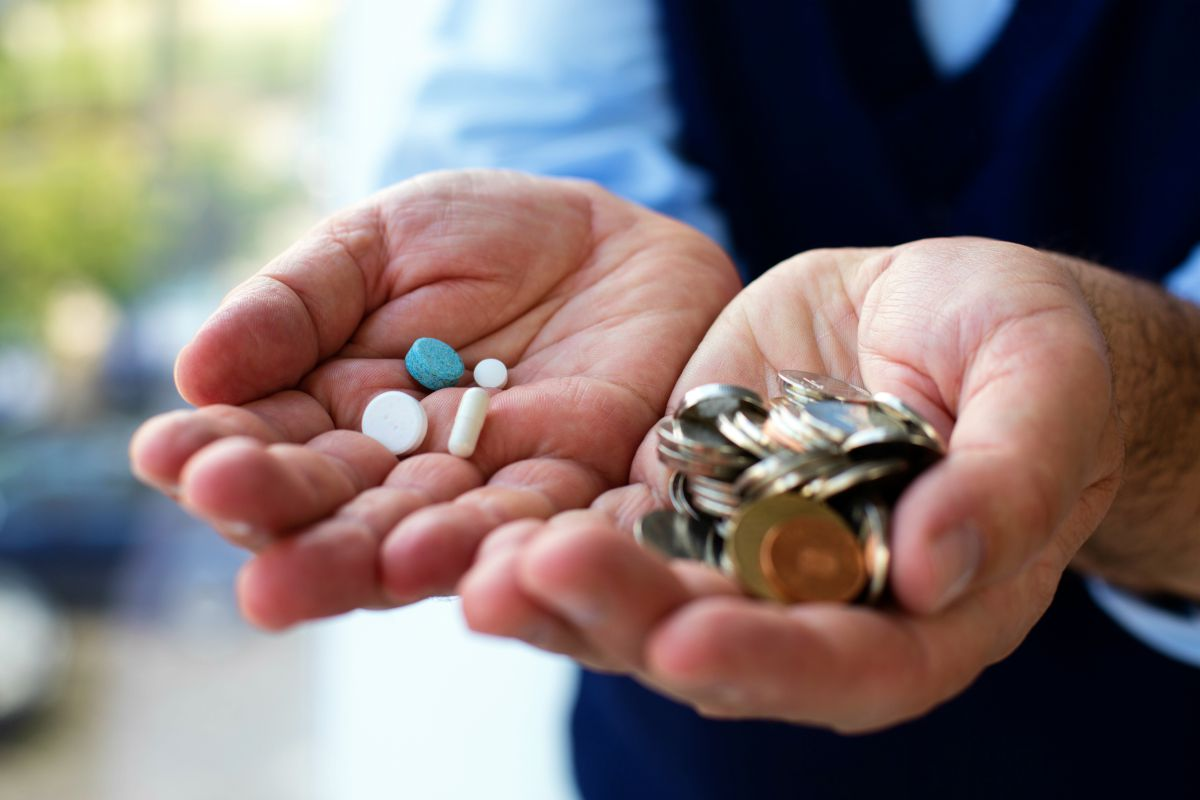 elderly holding medicines and coins | Best Way To Save For Retirement: Boost Your Efforts With These Tips | Inside Your IRA | retirement plan