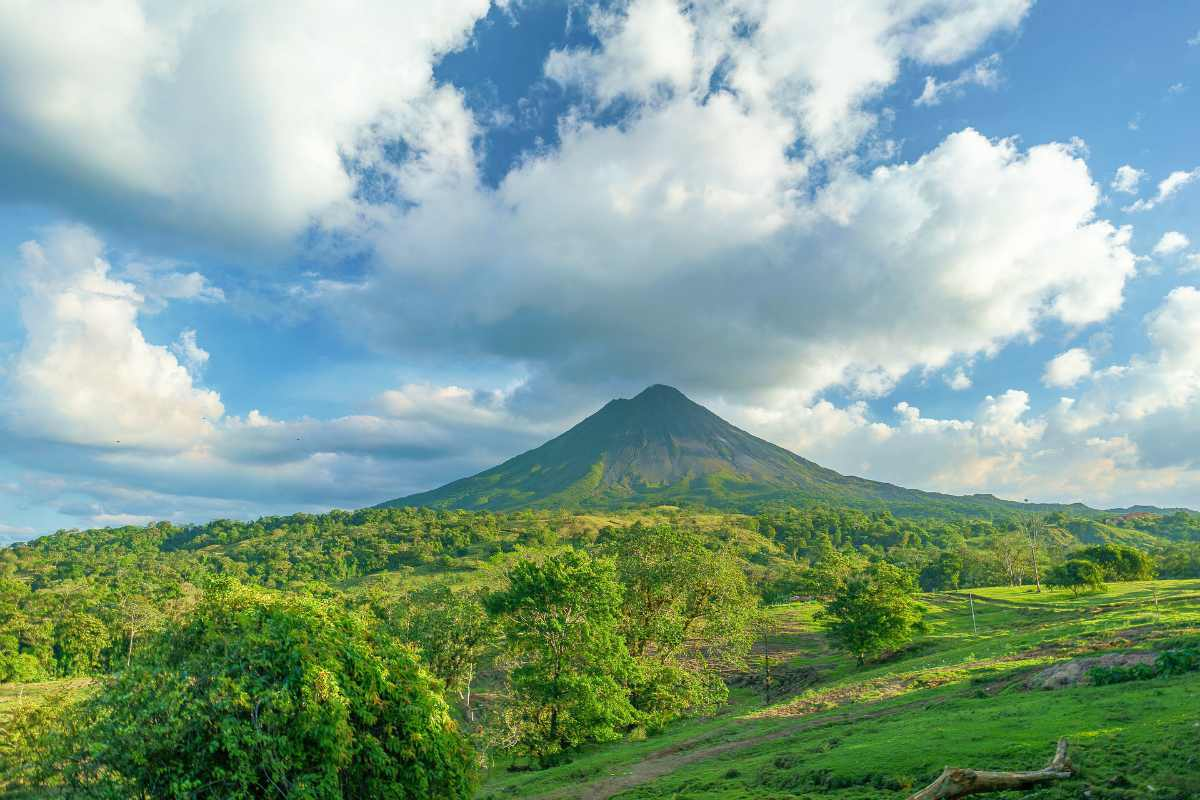 greens and volcano | Costa Rica | best retirement countries