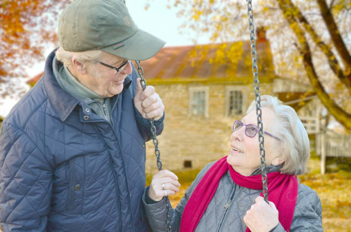 old couple swing   Success Tips For Retirement And Good Living   INFOGRAPHIC   retirement strategies   life after retirement