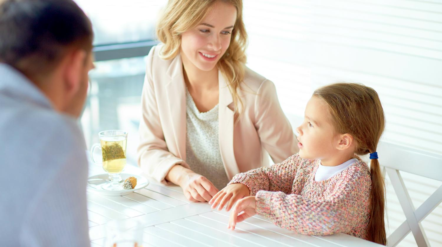 Feature | father and mother talking to daughter | Financial Lessons To Teach Your Children | Inside Your IRA | teaching your kids to save