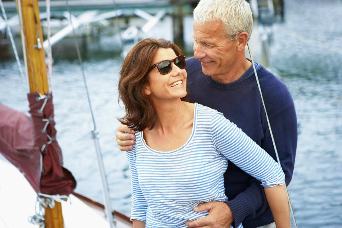 middle aged couple on old boat | 401(k) Early Retirement Guide | Inside Your IRA | 401k early retirement