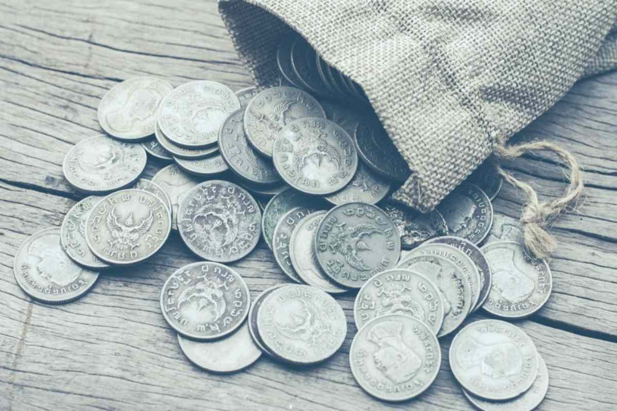 old stack coins sack bag money | Reasons Why Preppers Are Investing in Silver | Inside Your IRA | investing in silver coins