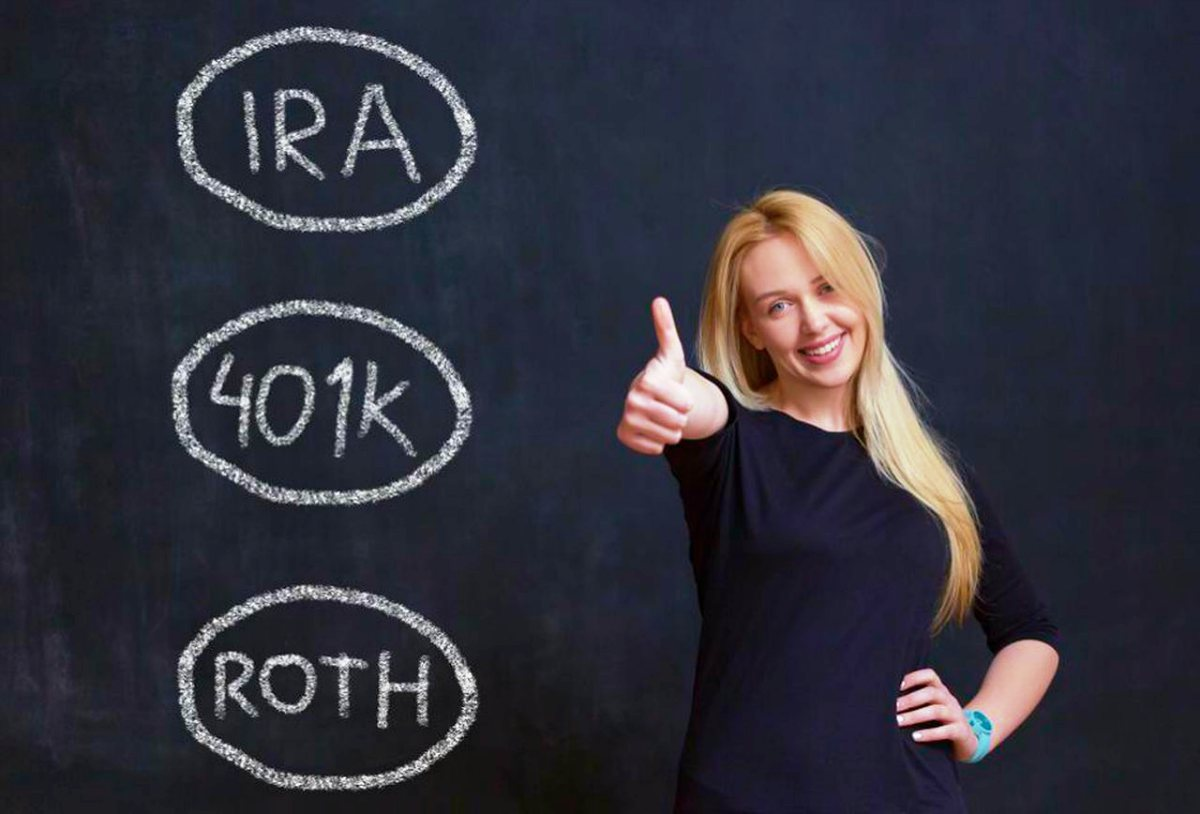 savings concept portrait woman on chalkboard | 401(k) Early Retirement Guide | Inside Your IRA | 401k and early retirement