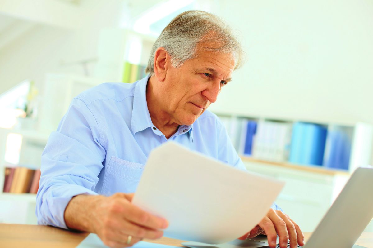 senior man working on laptop   Best Retirement Investments   Inside Your IRA