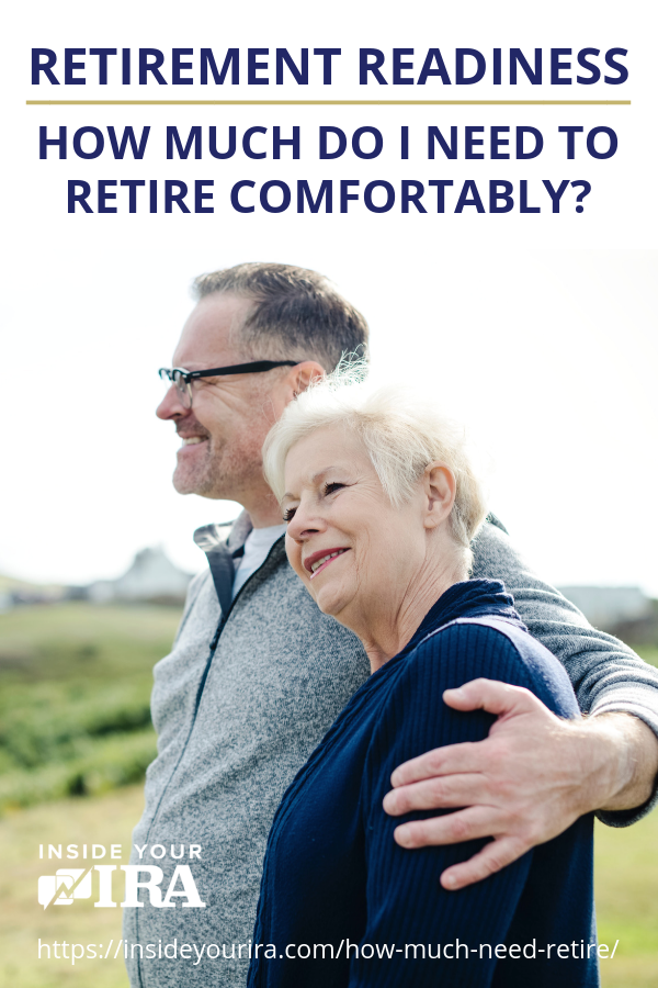 Retirement Readiness | How Much Do I Need To Retire Comfortably? | Inside Your IRA https://insideyourira.com/how-much-need-retire/