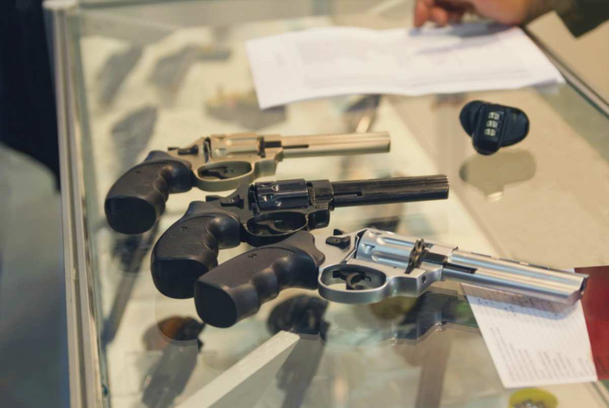 revolvers on counter gun shop weapon | Funds That Invest In Major Gun Manufacturers | Inside Your IRA | Firearms