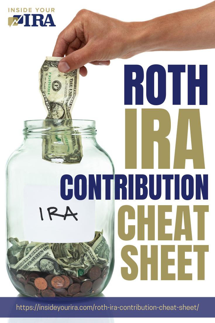 Roth IRA Contribution Cheat Sheet [INFOGRAPHIC] | Inside Your IRA https://insideyourira.com/roth-ira-contribution-cheat-sheet/