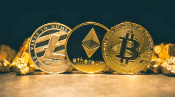 Featured   Golden cryptocurrencys Bitcoin, Ethereum, Litecoin and mound of gold   What Is The Future Of Cryptocurrency?