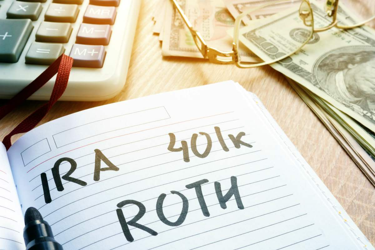 Words IRA 401k ROTH handwritten in a note | How To Become A Millionaire with Roth IRA | Inside Your IRA